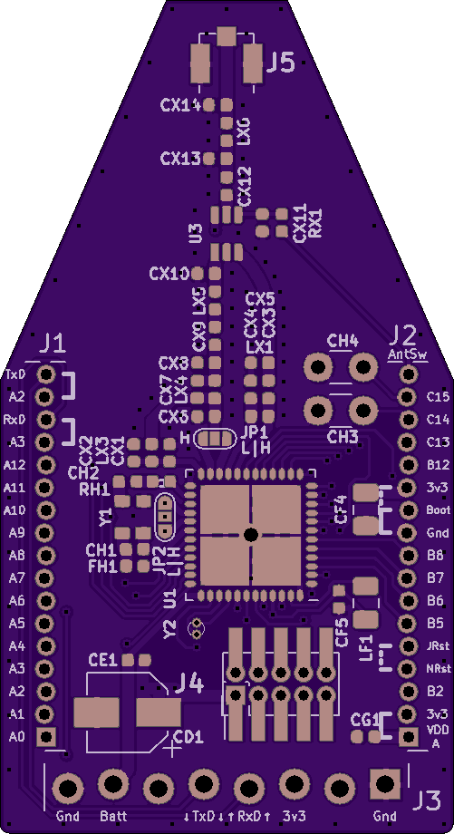 OSH Park PCB for WLE5 Breakout